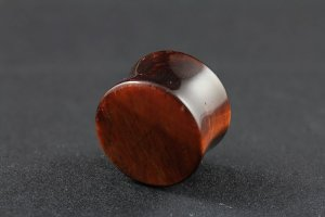 Red Tigers Eye Stone Plug