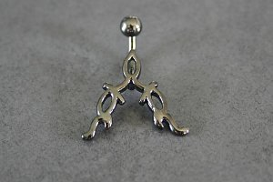 Reverse Tribal Belly Ring
