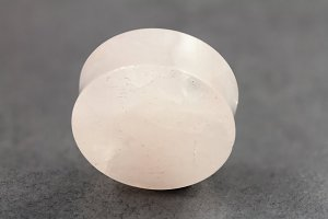 Rose Quartz Stone Plugs