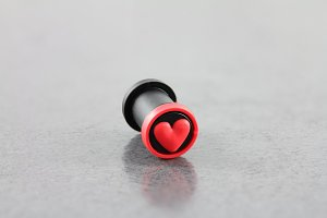 Silicone Double Flared Heart Plug