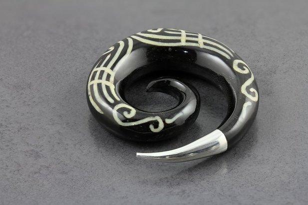 Silver Tip Natural Horn Spirals
