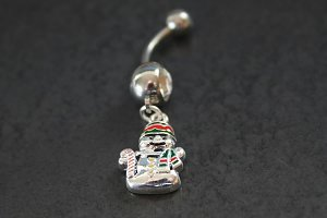 Snowman Dangle Belly Ring