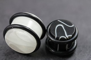 Solid Acrylic Marble Plugs