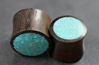 Sono Wood Crushed Turquoise Plug