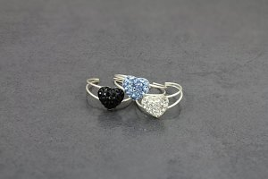 Sparkle Heart Toe Ring