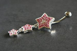 Sparkle Star Dangle Belly Ring