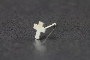Sterling Silver Cross Nose Bone
