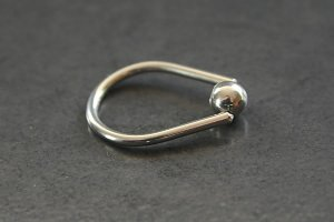 Tear Drop Captive Bead Ring