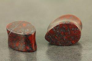 Teardrop Jasper Stone Plug