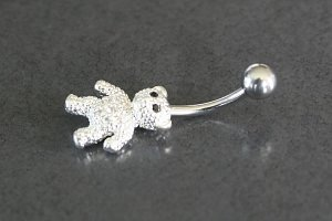 Teddy Bear Belly Ring
