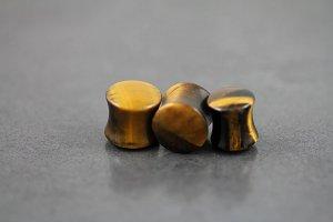 Tigers Eye Stone Plug