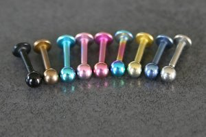 Titanium Lip Labrets 6mm