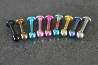 Titanium Lip Labrets 6mm