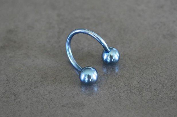 Titanium Spiral Belly Ring
