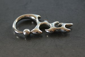 Tribal Flames Captive Bead Ring