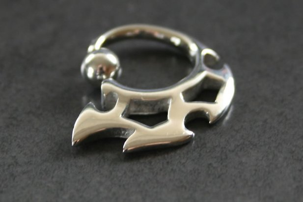 Triple Blade Captive Bead Ring