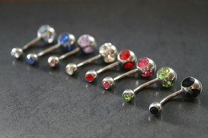 Triple Jeweled Belly Rings