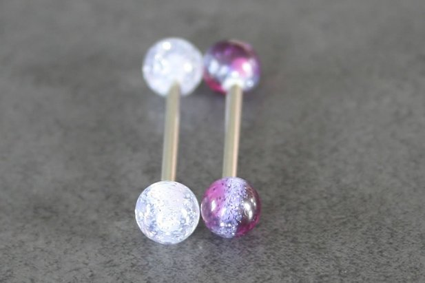 Two Tone Glitter Barbell