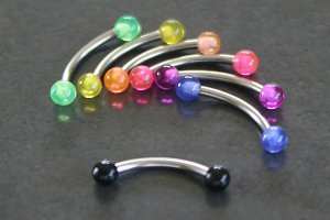 UV Acrylic Balls Eyebrow Bar
