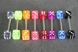 UV Dice Barbells