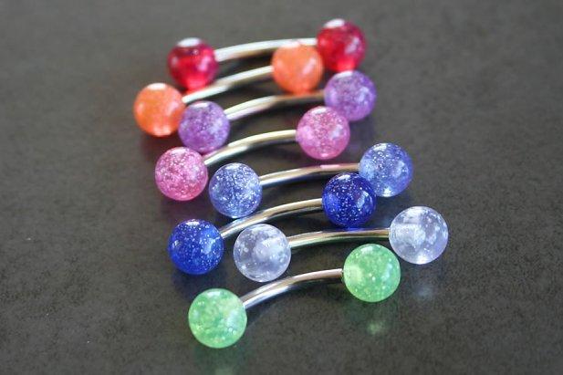 UV Glitter Barbell