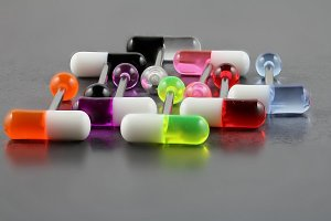 UV Pill Tongue Bars