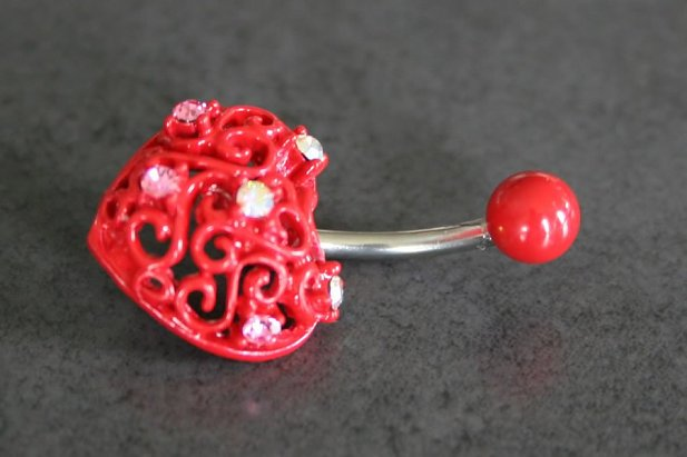 Valentines Heart Belly Ring