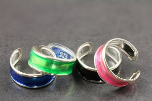 Water Colour Toe Ring