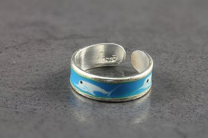 Watercolour Dolphin Toe Ring