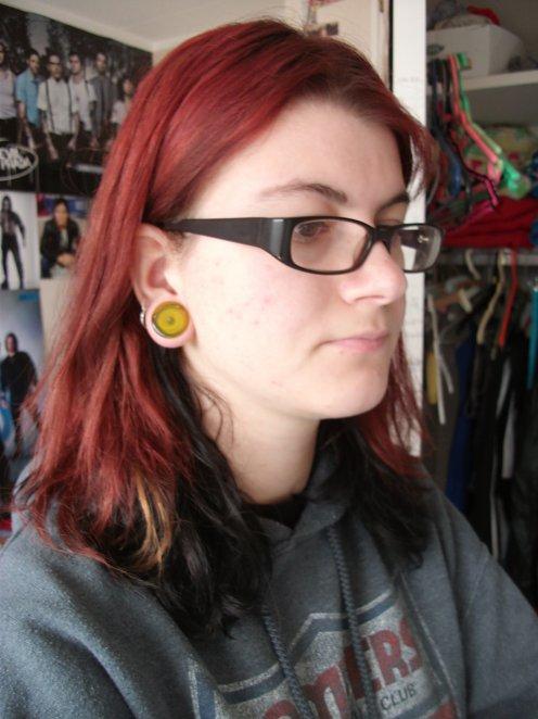 Swirl Yellow Glass Plugs